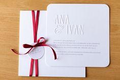 Ana e Ivan Tamanho: 18 x 18 cm Impressão: Serigrafia e Relevo Seco