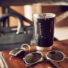 Tumbler // Black Bring your style wherever you go with this Sovaro Tumbler. The unique shape of the body not only looks great, it allows for a more comfortable grip. Its lids ar...