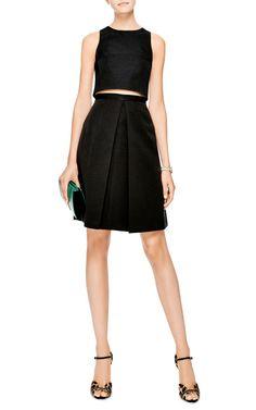 Katia Pleated Faille Skirt by Tibi - Moda Operandi