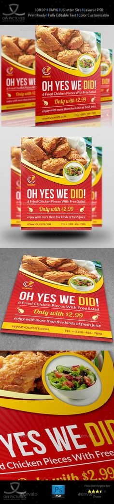 Restaurant Flyer Template #design Download: http://graphicriver.net/item/restaurant-flyer-template-vol8/11877112?ref=ksioks