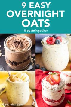 9 Easy Overnight Oats Recipes – Vegan, Healthy - Beaming Baker