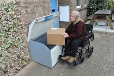 It can be difficult for some to get to the door when there's  a delivery. A PinPod might be the answer for you.