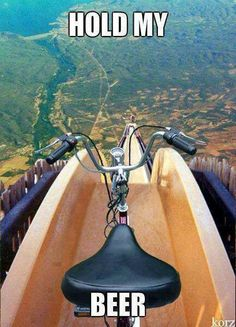 This makes me laugh becuase it's funny to think that would ever be anyone stupid enough to do this. Radical Sports, Extreme Sports, Haha, Hold Me, Funny Pictures, Funny Images, Funny Pics, Silly Pics, Fail Pictures