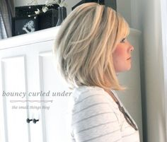 bouncy curled under from The Small Things Blog by penelope