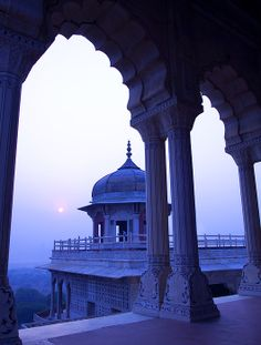 Morning Sunrise viewed from Red Fort, Agra Fort, Agra_ India