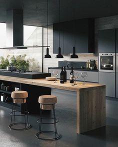 Kitchen Inspiration // Gicinque Cucine The Perfect Scandinavian Style Home – Modern Modern Kitchen Interiors, Luxury Kitchen Design, Kitchen Room Design, Interior Design Kitchen, Kitchen Designs, Farmhouse Kitchen Decor, Home Decor Kitchen, Home Kitchens, Kitchen Ideas