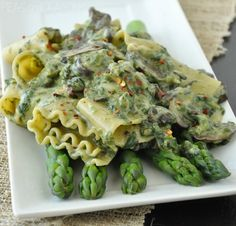 Veggie Patch Lasagna with Creamy Spinach Sauce