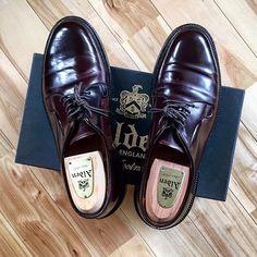 2017/02/14 09:35:28 ref1016 − 初オールデンは1ドル90円くらいの時に ハワイで購入した思い入れのある一足です − #ALDEN#オールデン#990#8#バーガンディー#バリーラスト#靴磨き#コードバン#CORDOVAN#Ref革靴#置き画#置き画くら部