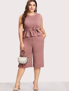 af12449044d64 Shop Ruffle Hem Tie Waist Chiffon Top And Pants online. SheIn offers Ruffle  Hem Tie Waist Chiffon Top And Pants   more to fit your fashionable needs.