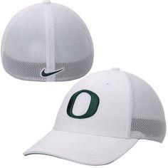 sale retailer 00248 3833e Oregon Ducks Nike Performance L91 Mesh Back Swoosh Flex Hat - White