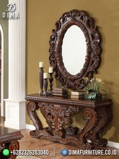 Entrance Table, Spooky House, Baroque Fashion, Bathroom Colors, Colorful Interiors, Console Table, End Tables, Interior Design, Luxury