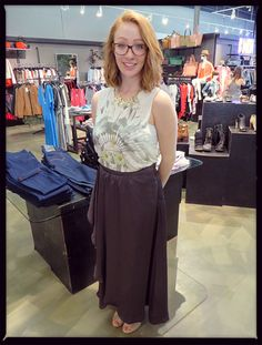 This pretty VERO MODA maxi looks awesome with our new graphic tanks!  #fashion
