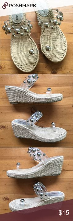 Holster Shoes Great condition size 8/39 Australian company so US 9 wonderful for travel or everyday silver studs very cute💕 Holster Shoes Wedges