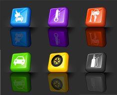 car trouble internet royalty free vector icon set vector art illustration