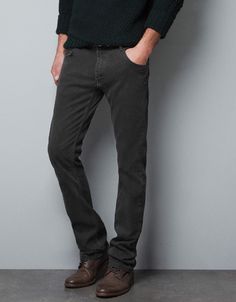 CHARCOAL GREY TROUSERS - Trousers - Man - ZARA United States $69.90