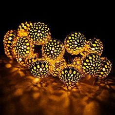 ONEMORESTM 20LED Morocco Hollow String Light Outdoor Xmas Party Decor Lamp Gold * Find out more about the great product at the image link.