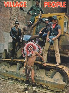 The Village People in biggest joke ever played on the straight American public. It's laughable today that no one thought they were gay. Glam Rock, Village People, Rose Pictures, Random Pictures, Trap, The Good Old Days, Back In The Day, Childhood Memories, Pop Culture