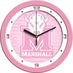 Marshall University Thundering Herd - Pink Wall Clock