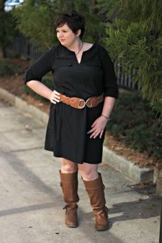 black dress with boots - Google Search