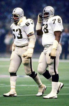 Art Shell and Gene Upshaw, Oakland Raiders