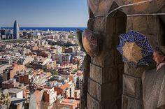 La Sagrada Famlia, Barcelona Spain.  I loved Barcelona at 17.  I imagine I would like it more as a grownup.