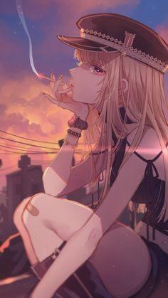 When im sad,im quiet or i cry! Anime Sexy, Cool Anime Girl, Pretty Anime Girl, Girls Anime, Beautiful Anime Girl, Dark Anime, Kawaii Anime Girl, Anime Art Girl, Manga Girl