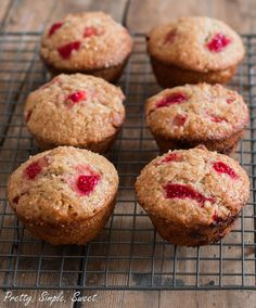 Healthier strawberry muffins - super moist and flavorful with a hint of citrus.