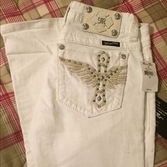 BNWT white Miss Me jeans Brand new white boot cut Miss Me jeans Miss Me Jeans Boot Cut