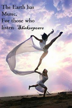 Inspirational Dance Quote. #dance #inspire #shakespeare