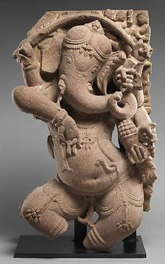 Celebrating the birthday of Ganesha - remover of obstacles - sculpture (one of 30) made 1000 years ago