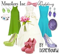 A Monsters Inc. Wedding  I decided to do it as if Boo was getting married, and Mike and Sulley as the bridesmaids.  :)
