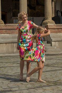 "Set Rochii Mama Fiica ""Summer Colours 2"""