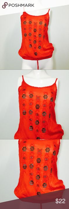 Maurice's Red Embellished Studded Aztec Blouse! Size medium! Maurices Tops Blouses