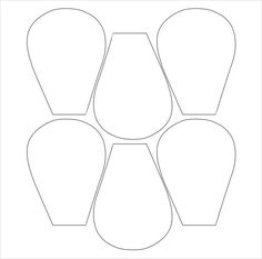 picture regarding Free Printable Flower Templates referred to as 114 Great Flower petal template pics in just 2019 Flower