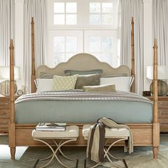 Universal Furniture Moderne Muse Maison Poster Bed - Tapering, bamboo-inspired posts on the Universal Furniture Moderne Muse Poster Bed has an adjustable design that gives you four stylish configurations....
