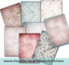 Wallpaper, Decoupage, Digital download papers , pink blue   vintage  texture paper craft , photo cards  web backgrounds, etsy banners, Tp41