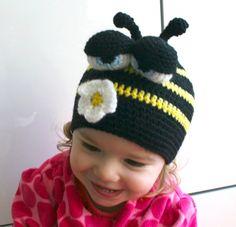 Busy Bee Hat Crochet Pattern