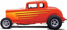 Custom Flames On Cars   VINYL DECAL FLAME-ONE COLOR- Flame your car the easy way...Diecut ...