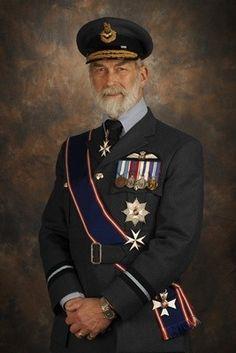HRH Prince Michael of Kent in RAF uniform taken by Wing Commander Steve Jackson RAF