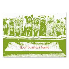 Dog Care Business Cards