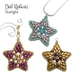 free SuperDuo and crystal star pattern