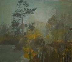Ruth Stage, 'Turquoise Garden', egg tempera, 19x22 inches