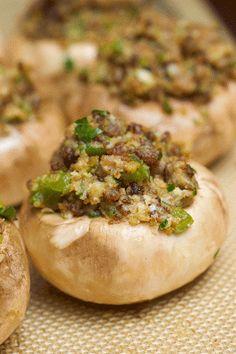Ina Garten's Sausage-Stuffed Mushrooms.. Perfect Thanksgiving side!!