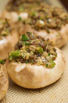 Ina Garten's Sausage-Stuffed Mushrooms.. Perfect Thanksgiving side!!
