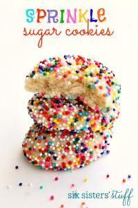 Six Sisters Sprinkle Sugar Cookies on MyRecipeMagic.com