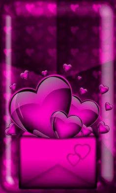 By Artist Unknown. Heart Iphone Wallpaper, Pretty Phone Wallpaper, Hd Phone Wallpapers, Love Wallpaper, Cellphone Wallpaper, Pretty Wallpapers, Wallpaper Backgrounds, Purple Backgrounds, Hello Kitty Backgrounds