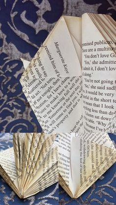 journey along an ordinary life: How to make a paper Protea - DIY Recycling Recycled Book Crafts, Old Book Crafts, Book Page Crafts, Buy Cheap Books, Book Folding Patterns Free, Folded Paper Flowers, Book Page Flowers, Paper Magic, Folded Book Art