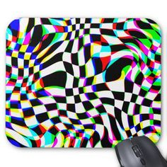 Shop Game Of Chess Mouse Mat created by AtomSplitter. Custom Mouse Pads, Marketing Materials, Optical Illusions, Postcard Size, Chess, Smudging, Paper Texture, Games, Psychedelic