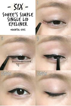 Make-up 6 K-pop Inspired Korean Style Eyeliners Tutorial Makeup Korean Style, Korean Makeup Tips, Asian Eye Makeup, Korean Makeup Tutorials, Makeup Style, Beauty Makeup, Korean Makeup Tutorial Natural, Beauty Tutorials, Beauty Tricks