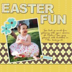 easter scrapbook layouts | Easter Fun- Digital Scrapbook Layout